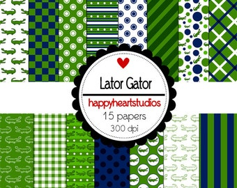 Digital Scrapbook  LaterGator-INSTANT DOWNLOAD