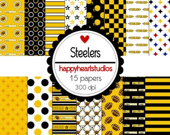 Digital Scrapbook  Steelers-INSTANT DOWNLOAD
