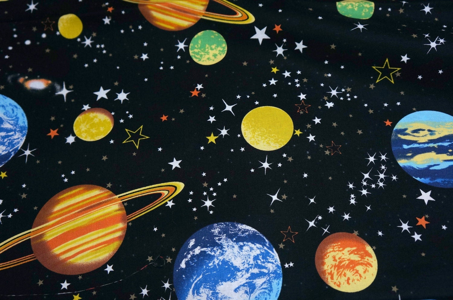 Japanese fabric outspace theme nc51 from beautifulwork on for Space themed fabric