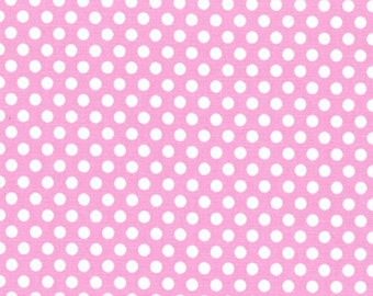 Fat Quarter - Kiss Dot Fabric in Pink by Michael Miller Fabrics CX5518-Pink