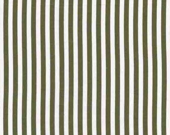Fat Quarter - Clown Stripe Olive green Fabric Michael Miller CX3584-OLIV-D