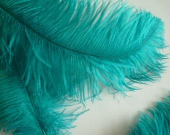 VOGUE OSTRICH PLUMES , Jade Green, 1 piece /  515