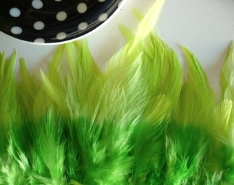 TWO TONE  SADDLE  / Ombre Neon Lime Green and Spring Green  / 235 / Rollback