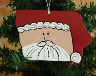 Iowa Santa Ornament