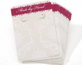 Made by Hand - 12 cards in each pack earring card 2.5 x 3.25 inches