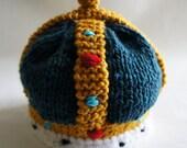 Crown Hat, Baby Hat, Newborn Baby Hat, Baby Knit Hat, Newborn Photo Prop, Photography Prop