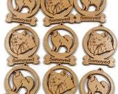 9 Mini Samoyed Dog Ornaments