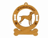 4201 Weimaraner Standing Personalized Dog Ornament