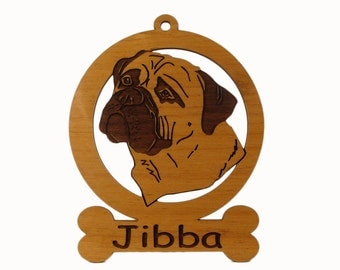 Bull Mastiff Head Ornament 2 082020 Personalized With Your Dog's Name