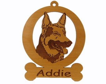 German Shepherd Dog Ornament 083223 Personalized With Your Dog's Name