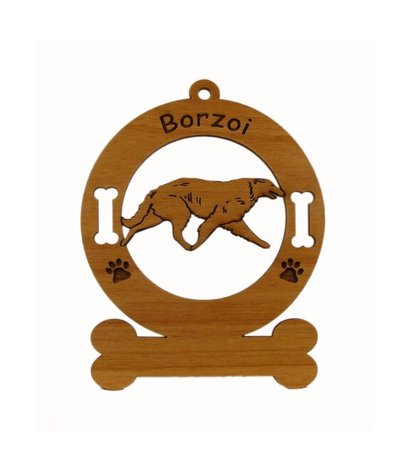 1911 Borzoi Gaiting Personalized Wood Ornament