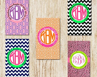 Circle Monogram Luggage Tag - Personalized Tag - Diaper Bag Tag - Bridemaids Gifts - Mother's Day Gift
