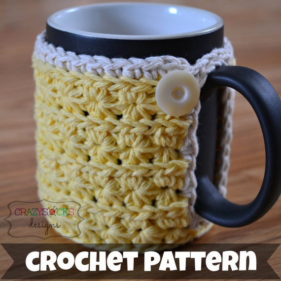 CROCHET PATTERN (instant download) - Virgo Coffee Mug Cozy