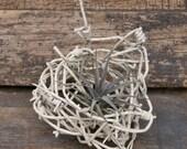 Vintage Wire Basket - Wire Art - Barbed Wire - Airplant Planter
