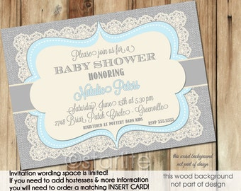 Handmade unique baby shower invitations – Etsy