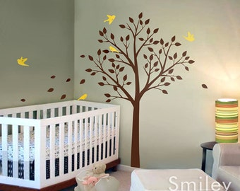 Tree Wall Decal, Tree and Cute Birds Wall Sticker ON SALE- Vinyl Wall Decal for Nursery Kids Room Nursery decal baby decal room decor