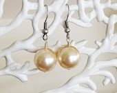 Large Ivory Shell Pearl Earrings