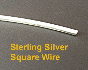12 g STERLING Silver Square Wire Dead Soft Temper Your Choice of Length