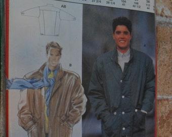 "Vintage Burda Pattern 5622 E - NEVER Used - Men's Lined Jacket - sizes 36 1/4"" thru 44"""