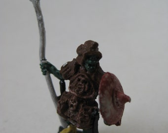 Warrior Monster Spear Dungeons and Dragons Figurine Vintage Metal Miniature