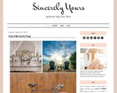 Premade Blogger Template - SINCERELY YOURS - Mobile Responsive - Graphic Design - Blog Template