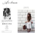 Premade Blogger Template - AMBROSIA - Mobile Responsive - Pinterest Hover Pin-It Button - Minimalistic - Graphic Design - Blog Template