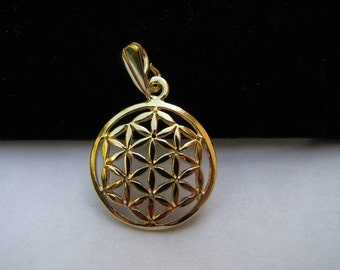 Goldfilled Flower of Life Charm Pendant for Necklaces and Bracelets