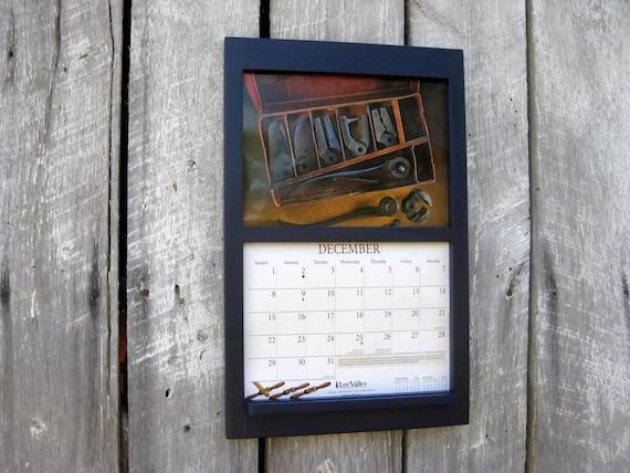 Calendar Wooden Frame : Handmade wooden frame calendar holder