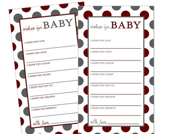 Mississippi State Baby Wishes Shower Game - Instant Download Printable Shower Game