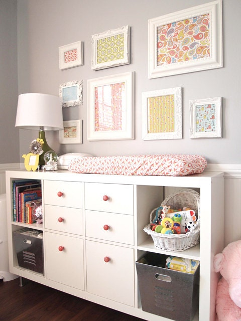Coral nursery changing pad covers : Ikea nursery ideas