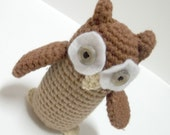 Old Brown - Beatrix Potter - Crochet Owl Amigurumi - Handmade Owl