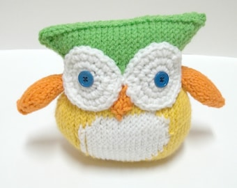 Amigurumi Owl - Knitted Toy - Stuffed Animal Owl Plush - Stuffed Animal