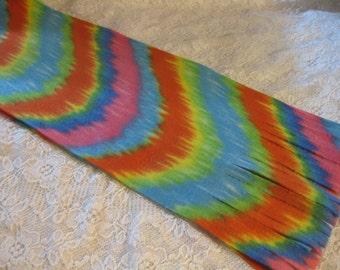 Five Buck Fleece Scarf Blow Out at SylMarCreations! * Latest Edition Tie Dye Winter Fleece Scarf
