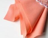 Wool Felt, Coral Pink, Choose Size, 100% Merino, Soft Felt, Pastel, Nonwoven Wool, Pastel, Felt Flowers, Waldorf Crafts, Wollfilz