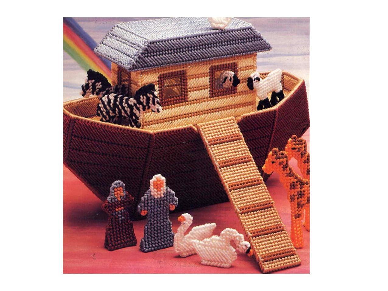 Noah S Ark Plastic Canvas Toy Playset Pattern Animals