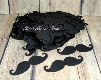 100 Black Mustache Die Cuts, Mustache Confetti, Lil Man Party, Mustache Baby Shower, Birthday Party, Little Mustaches, Mustache Cut Out