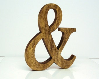 Wood Ampersand 8 inch Ampersand Shelf Sitter Ampersand Decor