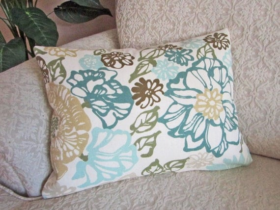 Teal Blue Throw Pillow Covers : Teal Blue Lumbar Throw Pillow Cover by asmushomeinteriors on Etsy
