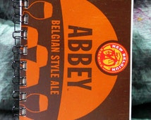 Spiral Notepad from Recycled New Belgium Abbey 6-Pack Beer Carton