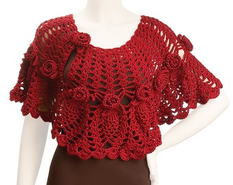 Crochet Jocelyn Capelet pattern pdf