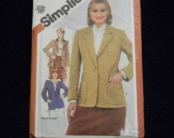 Vintage Uncut Simplicity Pattern 5202 Size 14 Lined Blazer