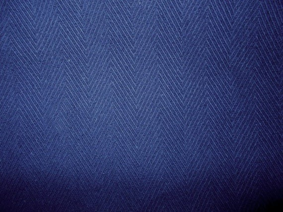Navy Blue Herringbone Woven Fabric for Upholstery Slipcovers