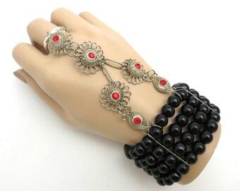 Great Gatsby Inspired Hand Jewelry Bracelet