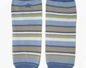 Clearance READY TO SHIP Blue Gray Green Stripe Legwarmers Match up with Boy Diaper Cover Bloomers