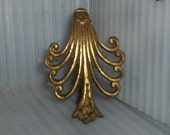 Fancy Drape Curtain Hardware Antique French Gilded Bronze