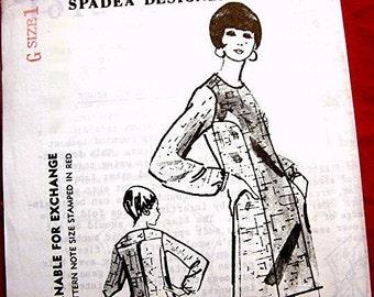 1960s Dress Pattern designer TIZIANI Spadea Pattern size 14 UNCUT Womens Long Sleeve A line Dress Pattern Vintage Sewing Patterns 60s