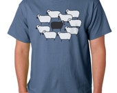Black Sheep Men's t-Shirt, Dusty Blue T-Shirt