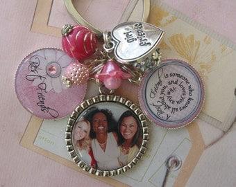 Personalized Friendship keychain, keepsake with photo