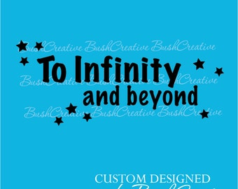 Vinyl Wall Decal Infinity Beyond Star Quote 071