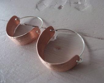 copper pirate earrings